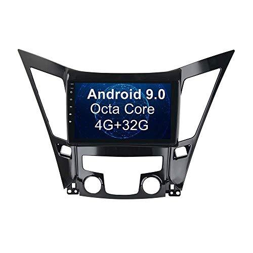 Para Hyundai Sonata I40 I45 I50 2011-2015 Android 9.0 Unidad principal de navegación GPS estéreo para automóvil Reproductor multimedia con pantalla táctil de 9 pulgadas SWC Receptor de video de mapa