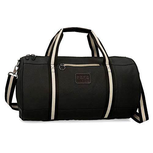 Pepe Jeans, Bolsa de Viaje, 50 cm, 36.45 litros, Negro