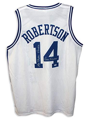 Oscar Robertson Cincinnati Royals Autographed White Jersey Inscribed'Mr. Triple Double' Autographed - Autographed NBA Jerseys