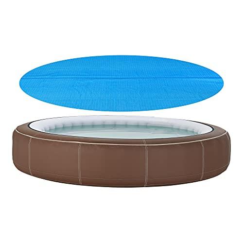 [en.casa] Poolabdeckung 244 cm Pool Cover Solar-Abdeckung Poolabdeckplane Solarplane rund blau
