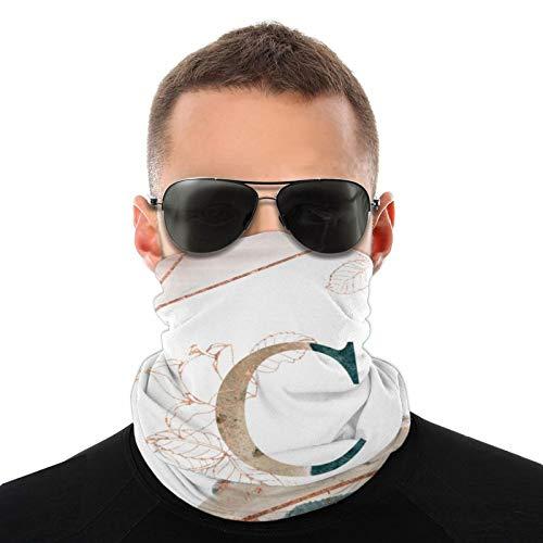 Face Scarf Bandana The Letter C Dustproof Headband Neck Gaiter Balaclava Headwear Breathable Face Cover for Outdoors for Women Men