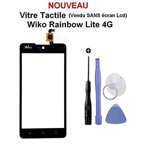 Touchscreen für Wiko Rainbow Lite 4G, inkl. Werkzeug und 3 m doppelseitigem Kleber (ohne LCD-Display)