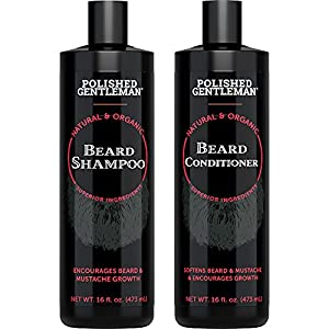 Beard Shampoo and Conditioner Set - Beard Wash and Conditioner for Men with Biotin & Tea Tree - Mens Best Beard… 5