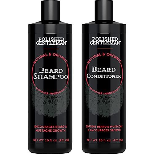 Beard Shampoo and Conditioner Set -…