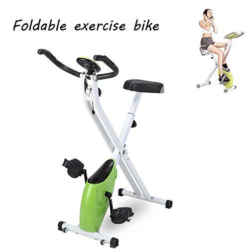 XFY Plegable Bicicleta de Ejercicio Interior, Professional Bicicleta Estática Ajustables Asiento, para el Hogar Cardiovascular, Gimnasio con Cojín de Asiento Cómodo