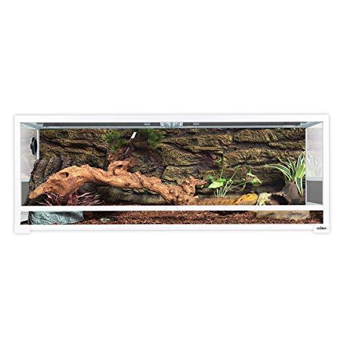"Oiibo 67 Gallon Reptiles Premium White Knock Down Glass Terrarium, Sliding Door with Screen Ventilation Habitat 48"" x 18"" x 18"" Easy Assembly"