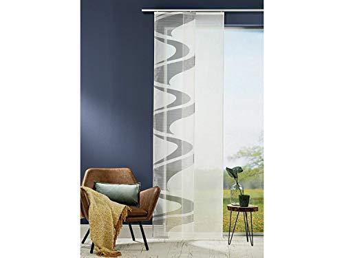 2er Set Schiebevorhang Schiebegardine 45 x 245 cm | anthranzit weiß | mehre Modelle zur Auswahl (Anthranzit/Grafik)