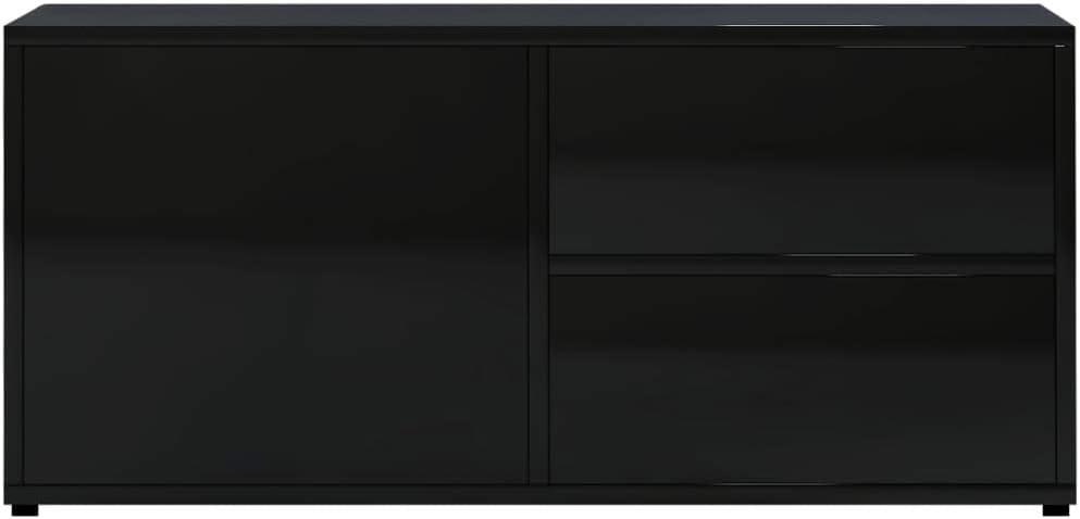 vidaXL Mueble para TV Sal/ón Comedor Mesa Centro Televisi/ón Televisor Equipo de M/úsica Armario Bajo Almacenaje Soporte Aglomerado Gris 80x34x36cm