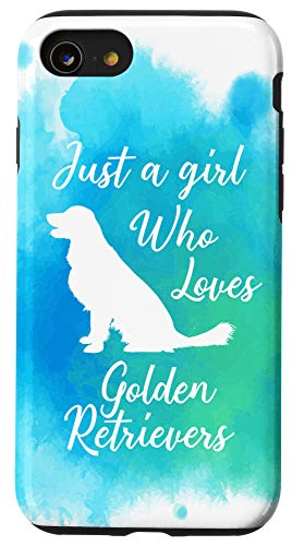 iPhone SE (2020) / 7 / 8 Watercolor Dog Gift Just A Girl Who Loves Golden Retrievers Case