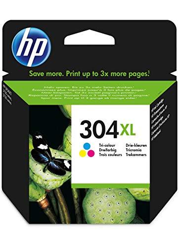 HPN9K07AE 304XL Cartucho de Tinta Original de alto rendimiento, tricolor (cian, magenta, amarillo), 1 unidad