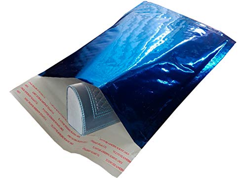 Amiff Bubble mailers 5x9. Padded envelopes 5 x 9. Exterior size 6x10 (6 x 10). Peel & Seal. Glamour Metallic foil. Pack of 25 Blue cushion envelopes. Mailing, shipping, packing, packaging Photo #4