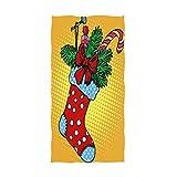 Toallas de Mano de calcetín navideño Toalla de baño de Pino de Abeto Dulce Toallas de baño Ultra Suaves y Altamente absorbentes para Rostro, Gimnasio, SPA (40x70cm)