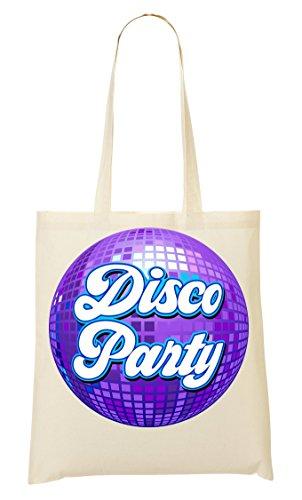 Disco Party | Music | Vintage Style | Old-School | Ball | Club | Dancing | Simple | Shape Tragetasche Einkaufstasche