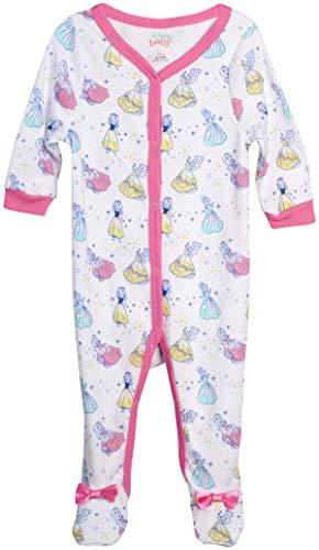 Disney Baby Girls' Sleep N' Play – Footie Pajamas: Minnie Mouse, Daisy Duck, Princess (Newborn/Infant), Size 3-6 Months, Disney Princess