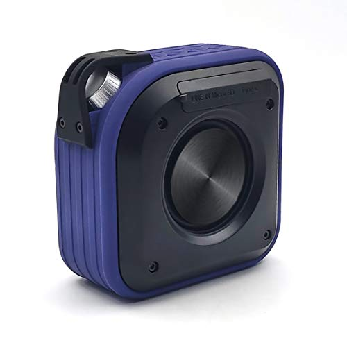 Luoshan Bluetooth Speaker, Portable 15w Bass Steel Cannon with Lanyard, Suitable for Outdoor Party/living Room (Color : Blue)
