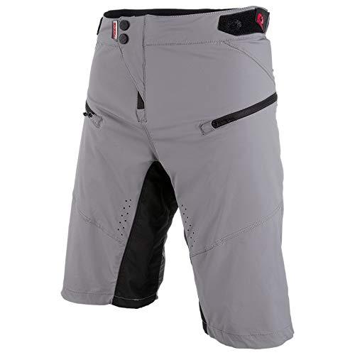 O\'NEAL | Mountainbike-Hosen | Mountainbike MTB Downhill BMX | Atmungsaktiv und schnell trocknend, DREI Taschen, Lasergeschnittene Belüftungsöffnungen | PIN IT Shorts | Erwachsene | Grau | Größe 32/48