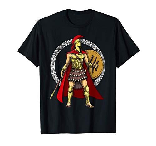Spartan Warrior Ancient Greek Mythology Roman History T-Shirt