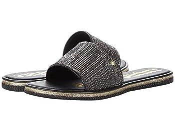 Juicy Couture Women s Yippy Womens Slide Sandals Beach Sandal Flip Flops Size 8 Black Sport