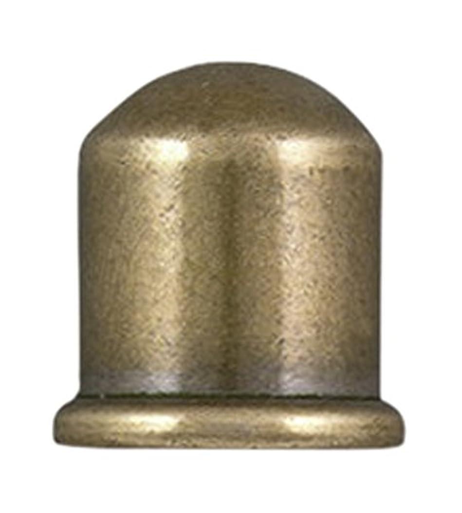 TierraCast Cord End Cupola Beads, 8mm Inner Diameter/12mm Antique Brass,