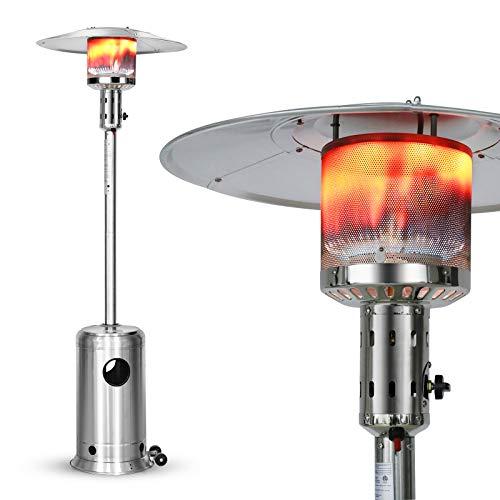 LEGACY HEATING Calefactor de patio, 48.000 BTU para exteriores, para patio, propano, calentadores de patio, acero inoxidable propano para cubierta, patio trasero, porche