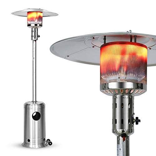 LEGACY HEATING Patio Heater with Wheels, Outdoor Patio Heater Stainless Steel, 48000 BTU Outdoor Heater for Patio, Commercial & Residential