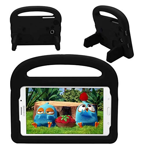 QYiD Case for Galaxy Tab A 7.0' SM-T280/T285, Kids Friendly Light Weight Non-Toxic EVA Shockproof Case with Convertible Handle Stand for Galaxy Tab A 7.0 inch Tablet, Black