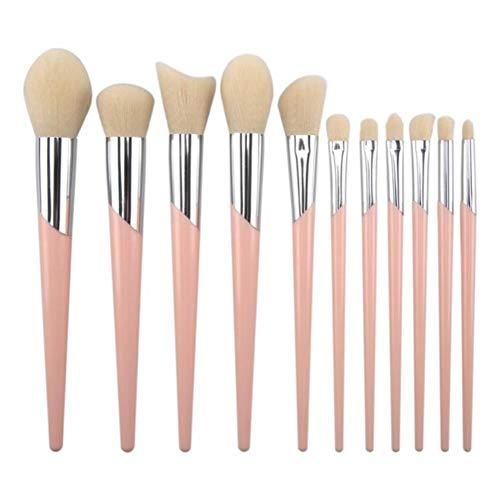 Monbedos Tube incliné Set de pinceaux de maquillage Oeil Visage Cou Pinceau de maquillage Pinceau de maquillage blush