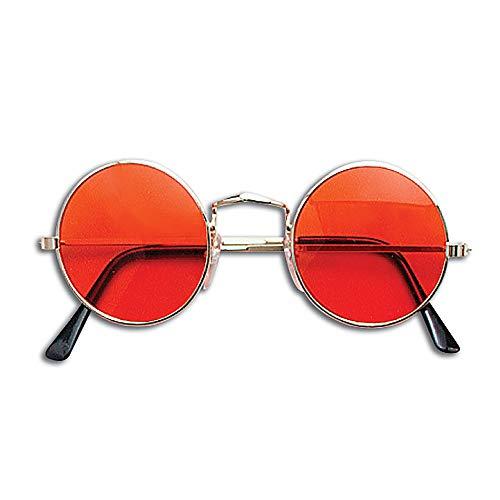 Bristol Novelty-BA222 Lunettes John Lennon, Orange, Homme, BA222, taille unique