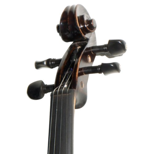 Mendini MV500+92D Flamed 1-Piece Back Solid Wood Violin with Case,...