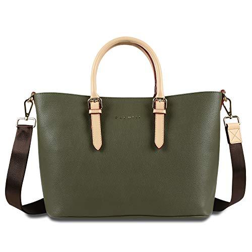 Bugatti Ella Shopper Handtasche Damen M, Damenhandtasche Schultertasche – Olive
