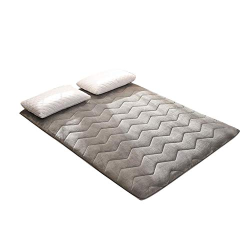 Blue-Yan japanische Bodenmatte aus Flanell. Tatami Schlafkissen, Rolle für japanische Betten, aufrollbare Matratze 1.8 * 2.0m A