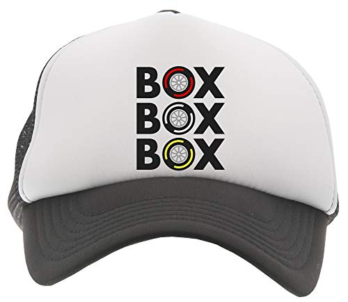 Box Box Box Tyre Compound Gorra De Béisbol Camionero Niños Negro Baseball Trucker Kids Cap Black