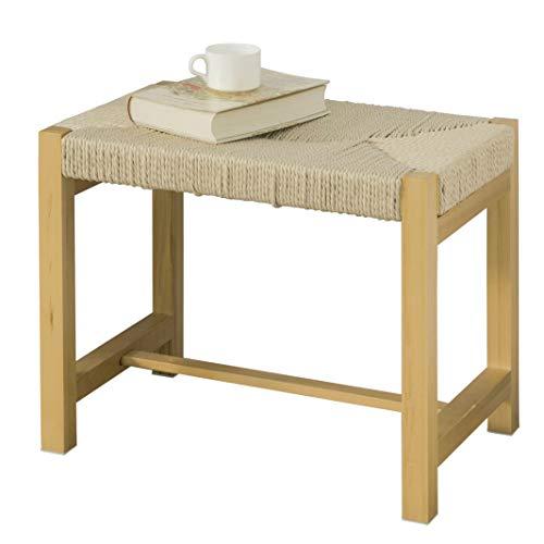 SoBuy FSR69-N Design Schuhbank mit Sitzfläche aus handgewebtem Jute Seil Sitzbank Sitzhocker Badhocker Natur BHT ca.: 56x46x36cm