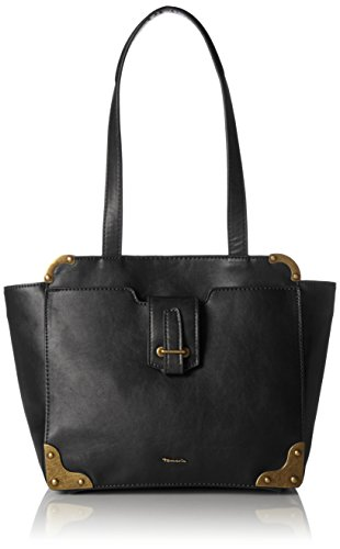 Tamaris Damen Mette Shoulder Bag Schultertasche, (black comb.), 11x24x27 cm