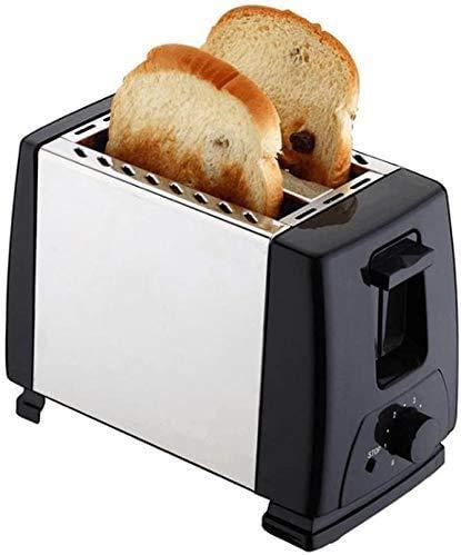 ZJN-JN Breadmakers 2 El calentamiento de la rebanada retro Tostadora 2 ranuras Ocultos estante 680 W Función de descongelación y recalentamiento Thawning Función inoxidable extraíble miga de contenedo