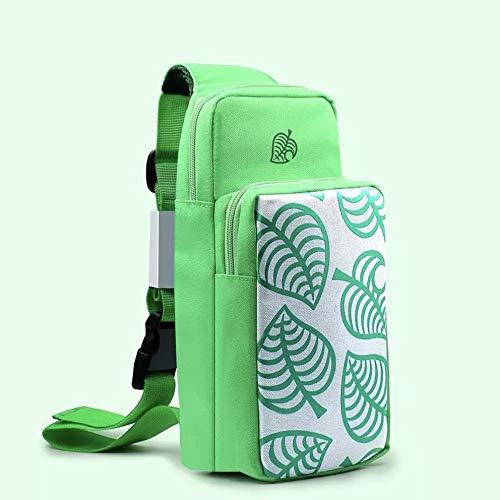Nintendo Switch Animal Crossing Green Leaf Soft Single Strap Shoulder Bag...