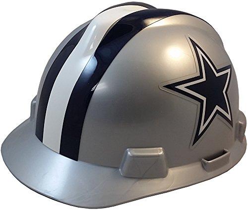 MSA NFL Ratchet Suspension Hardhats with Hard Hat - Dallas Cowboys Hard Hats