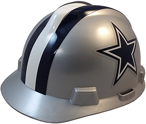 MSA NFL Ratchet Suspension Hardhats with Hard Hat - Dallas Cowboys Hard Hats