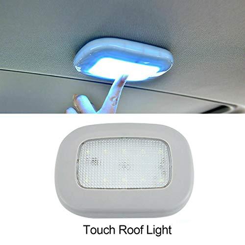 Maso, luce da soffitto per interni auto, 10 LED, luce da lettura USB senza fili, per auto, barca, rimorchio, camper, camion (grigio+blu ghiaccio)