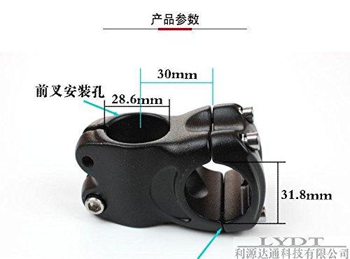 CELT er, Attacco manubrio per moto in alluminio di colore nero, 30 mm, corto, per mountain bike, fat bike, bicicletta da strada, 1 pezzo