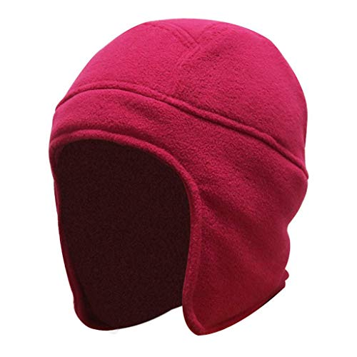 Home Prefer Womens Winter Hats Earflap Beanie Snow Ski Caps Warm Hat for Girls Wine Red