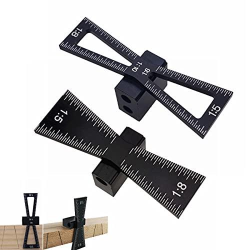 ZSXS Herramientas de carpintería-Tenon y Tenon Marcador, Herramienta de marcado manual, 1:5, 1:8 DIY Posicionador manual (??)