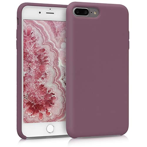 kwmobile Hülle kompatibel mit Apple iPhone 7 Plus / 8 Plus - Handyhülle gummiert - Handy Case in Pflaume