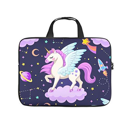 EUNNT Unicorn Laptop Case Sleeve Bag Water-Resistant Tote Bag for for Men Women Boys Girls White 17 Zoll