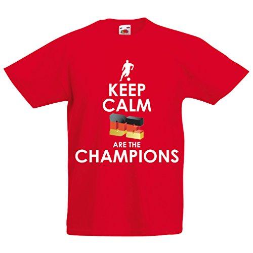 Kinderjongens/meisjes T-shirt Duitse Zijn die Champions – Russland-kampioenschap 2018, WM-voetbal, team van Duitsland fanshirt
