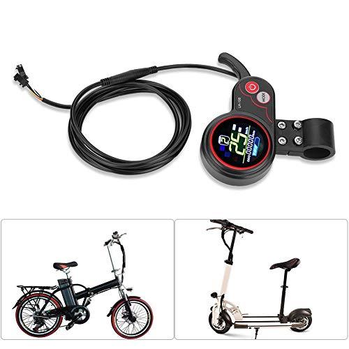 Alomejor Controller und LCD-Anzeige 24 V / 36 V / 48 V / 60 V 250 W / 350 W Geschwindigkeitsregler mit Wasserdichter LCD-Anzeigetafel für Elektrischen Fahrrad-Roller(48V)