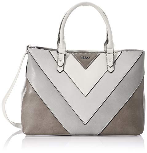 Gabor Shopper Damen, Grau, Korsika, 37x13x25 cm, Handtasche groß, Umhängetasche