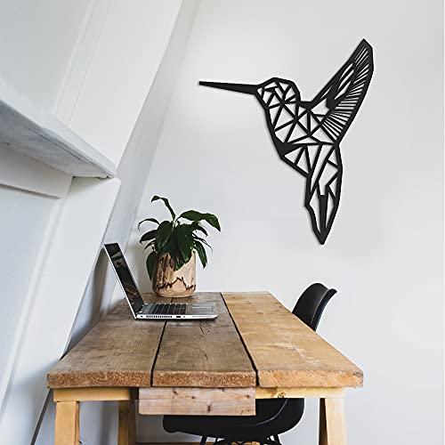 ODUN ARTS - Colibri - Cuadros Decorativos Modernos Elaborados en Madera - Decoración Elegante de Pared - 78 cm Alto 71 X cm Ancho X 1...