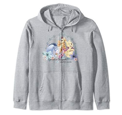 Disney Winnie The Pooh And Friends Floral Portrait Zip Hoodie