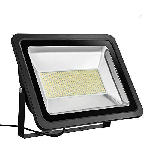 Missbee Super Bright 300W LED Flood Light, 33000lm Outdoor Landscape Flood Light, Security Light, 2800-3000K, Work for Garage, Garden, Lawn,Yard and Playground (Warm White)